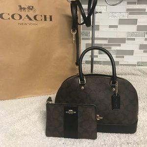 Coach mini sierra and wristlet set